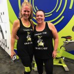 "Women in ""Spinning the Crazy Off"" Tank Tops"
